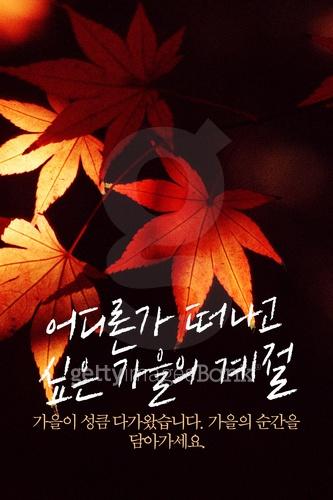 가을 손글씨