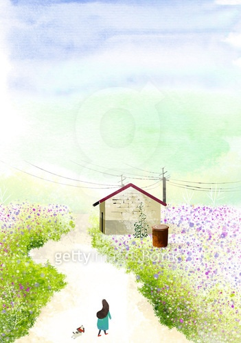자연 봄 배경