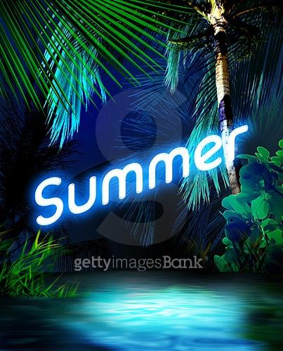 한 여름의 네온사인