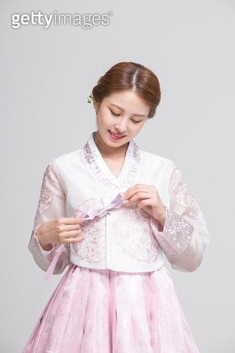 분홍빛 한복