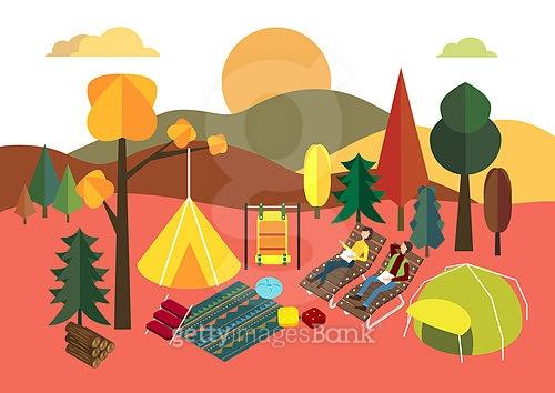 가을엔 캠핑!