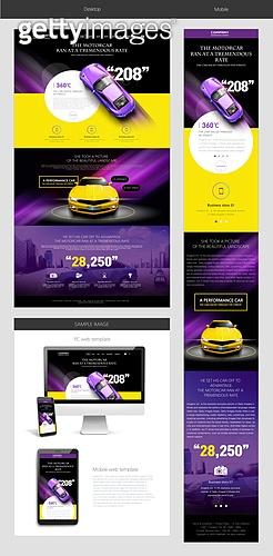 Car web template