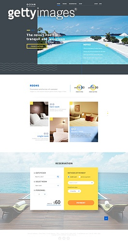 숙박업소 웹/모바일 템플릿