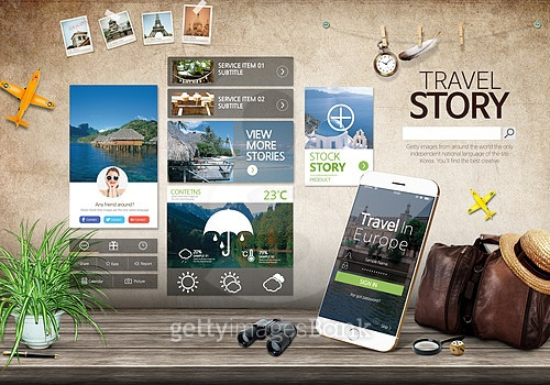 여행 모바일 UI
