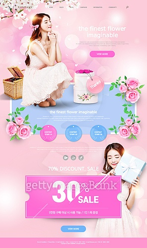 Pink web template