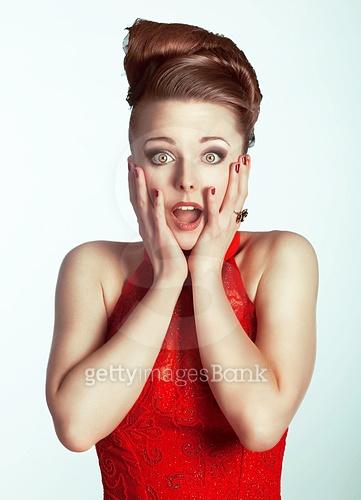 Surprised woman.