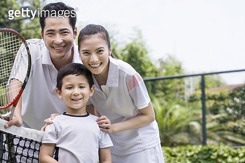 가족과 테니스