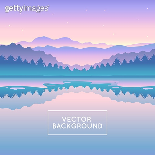 Vector abstract landscape