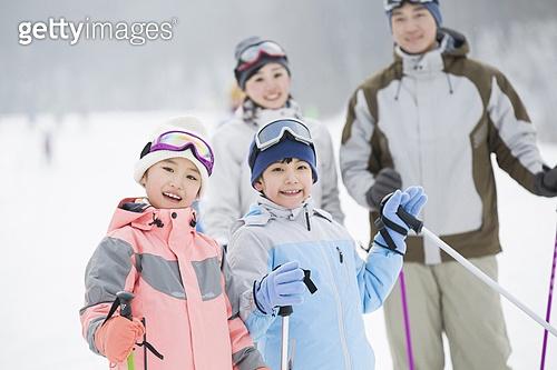 스키장 가족 나들이