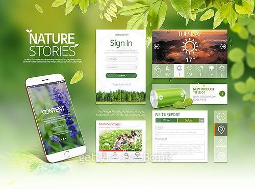 Nature Story 모바일 UI