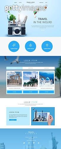 여름 여행 웹템플릿