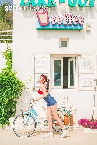 #카페#여름#자전거