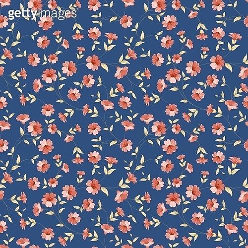 빈티지 꽃 패턴