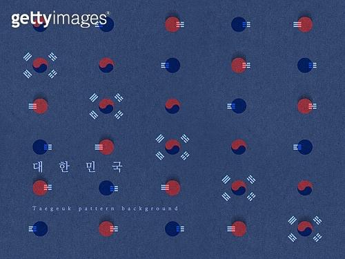 태극 패턴, 대한민국