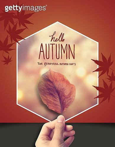 가을 프레임 배경