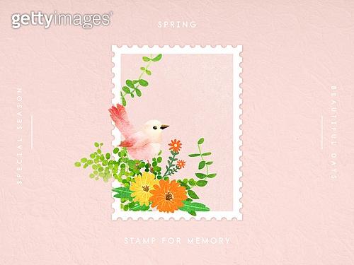 사계절 우표프레임