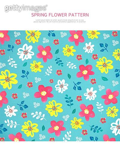 봄꽃 패턴