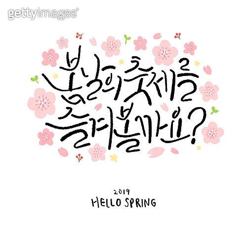 벚꽃 캘리그라피