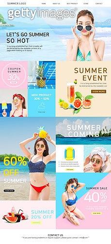 여름 웹템플릿