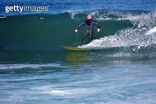 Surfing on a glassy wave