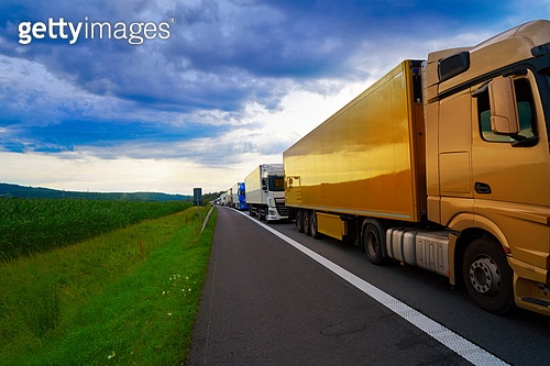 Germany traffic jam in a road vehicle accident. Germany traffic jam in a road accident vehicles in a row