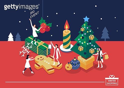 크리스마스 쇼핑 이벤트