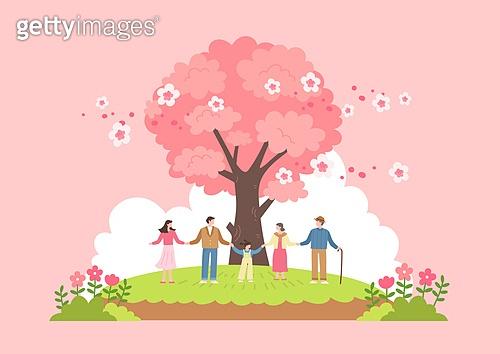 벚꽃과 사람들