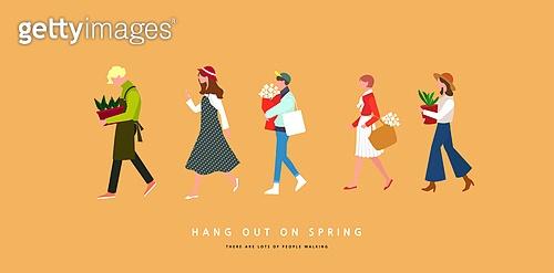봄을 걷는 사람들