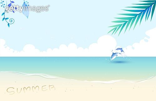 여름 배경 일러스트