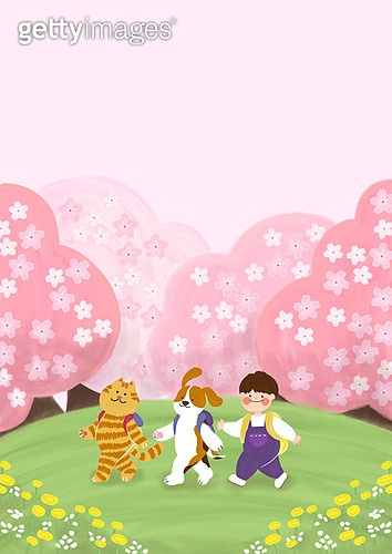 동물가족 봄소풍