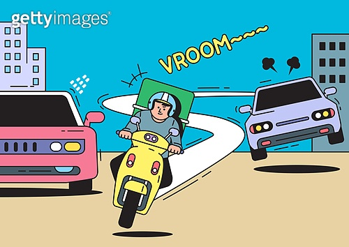 도로 위 무법자, 오토바이