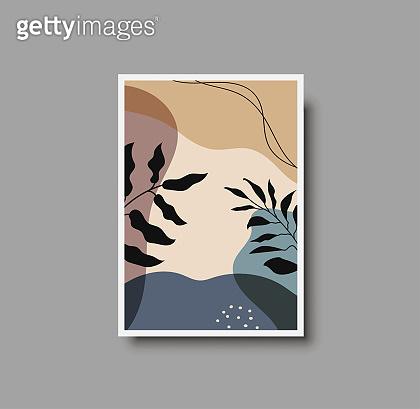 Botanical wall art abstract vector
