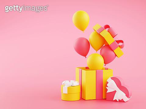 선물과 풍선 소스