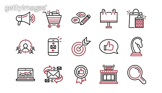 Red point icon set