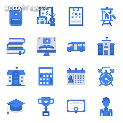 School Blue Icons
