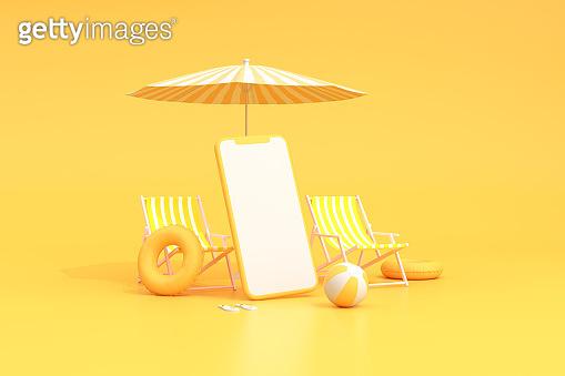 여름 컨셉 3d 렌더링