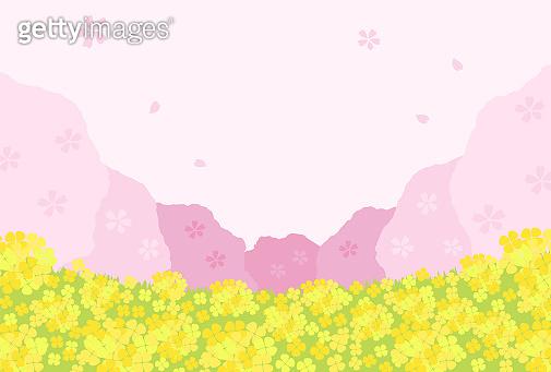 봄 배경 일러스트