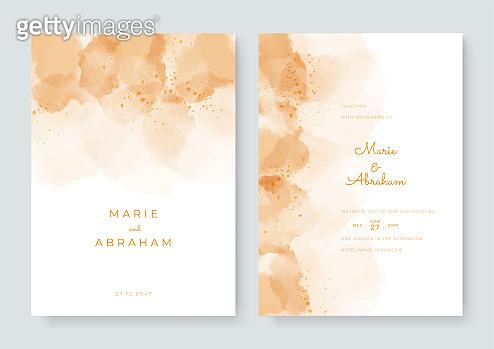 수채화 꽃 카드 세트