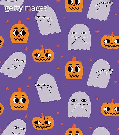 Halloween with pumpkins