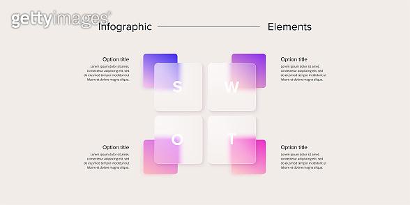 Glassmorphism design infographics