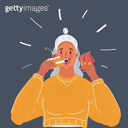 디저트를 먹는 사람들
