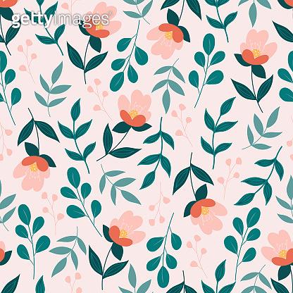 봄 플라워 패턴