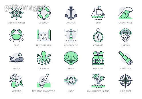 Illustration with minimal icon