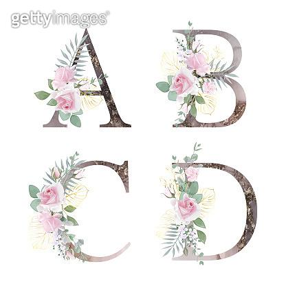 꽃 그림 알파벳