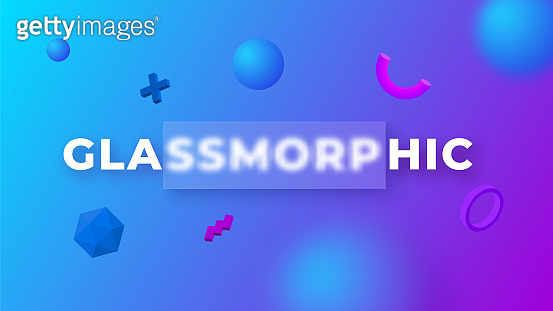 Glassmorphism concept