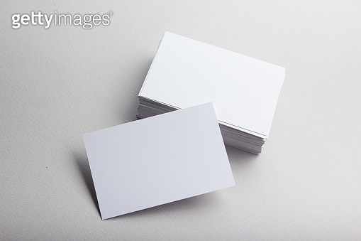 Business card blank on white background