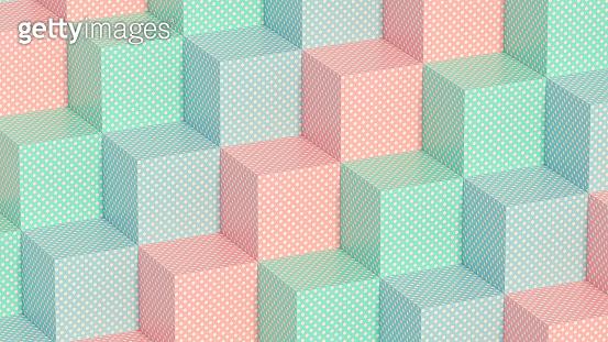 3D Cubes Pattern Background