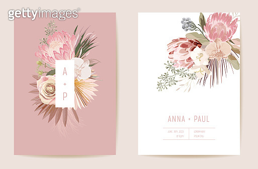 Dry flower invitation card