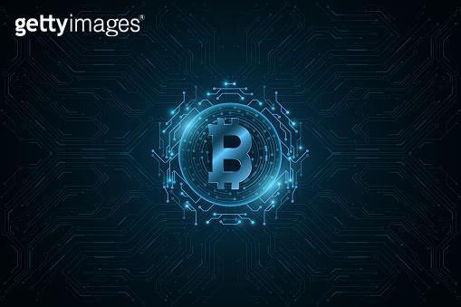 Futuristic blue graphic