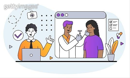 Online Cartoon illustration